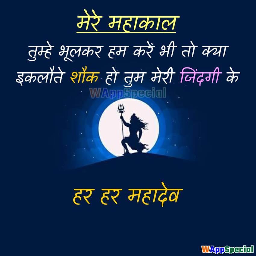 Shiva Status in Hindi